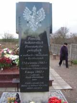 Rychłocice, kwatera powstańców na cmentarzu parafialnym