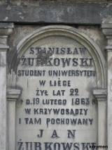 Inskrypcja ku czci Stanisława Żurkowskiego.