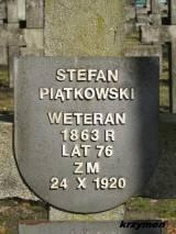 Mogiła weterana w kwaterze poległych w 1920 r.