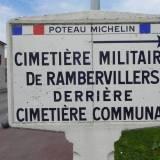 Rambervillers. Znak informacyjny.