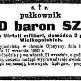 Nekrolog płk Arnolda Szyllinga.
