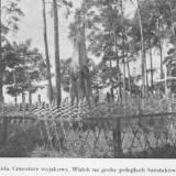 Kwatera wojenna na cmentarzu w Lidzie.