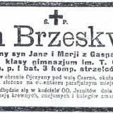 Nekrolog szer. Stefana Brzeskwińskiego poległego pod Wołominem.