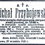 """Nekrolog z """"Kuriera Warszawskiego"""" z września 1920 r."""