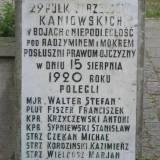 Tablica z nazwiskami żołnierzy 29 p.s.k.