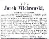 Nekrolog ochotnika Jerzego Wichrowskiego.