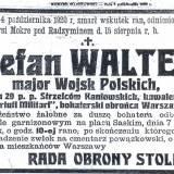 Nekrolog mjr Stefana Waltera.