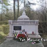 Pomnik pięciu zamordowanych Polaków.