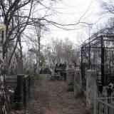 Groby ukraińskie na terenie kwatery wojennej.