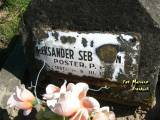 Ś. + P. ALEKSANDER SEB...N / POSTER. P.P. / UR. 1897 R. / ZM. 9.III.1929 R. /...