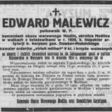 Nekrolog płk E. Malewicza.