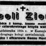 Nekrolog kpt. Marcelego Ziemskiego.